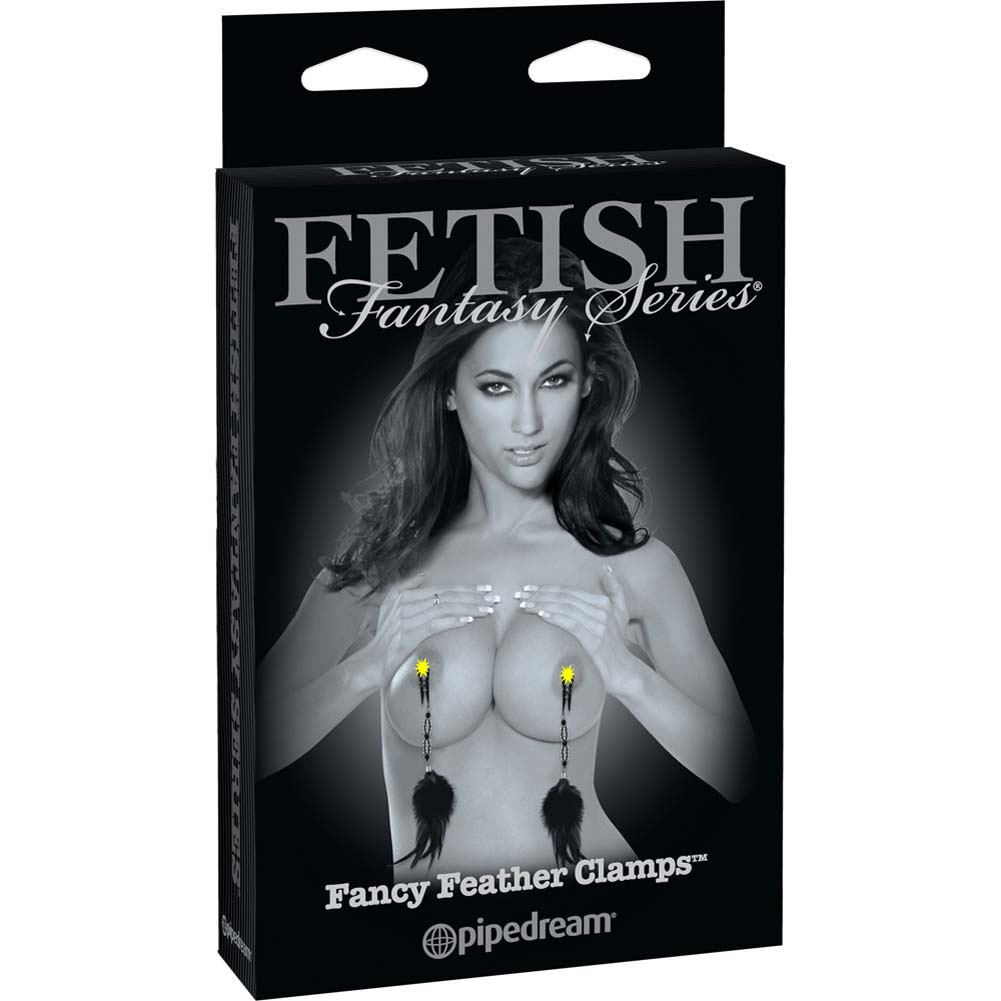 Fetish Fantasy Limited Edition Fancy Feather Clamps Black - View #4