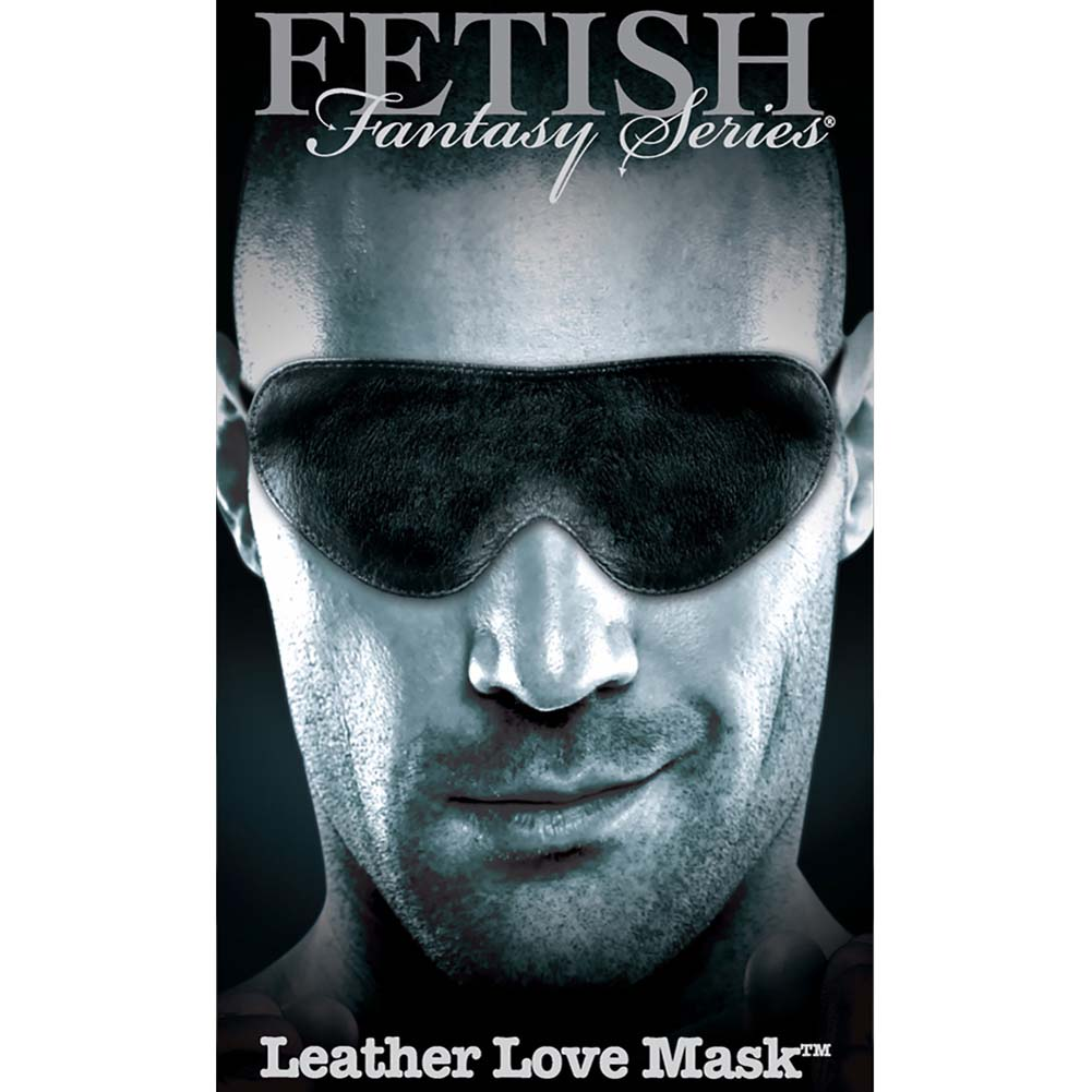 Fetish Fantasy Limited Edition Leather Love Mask Black - View #2