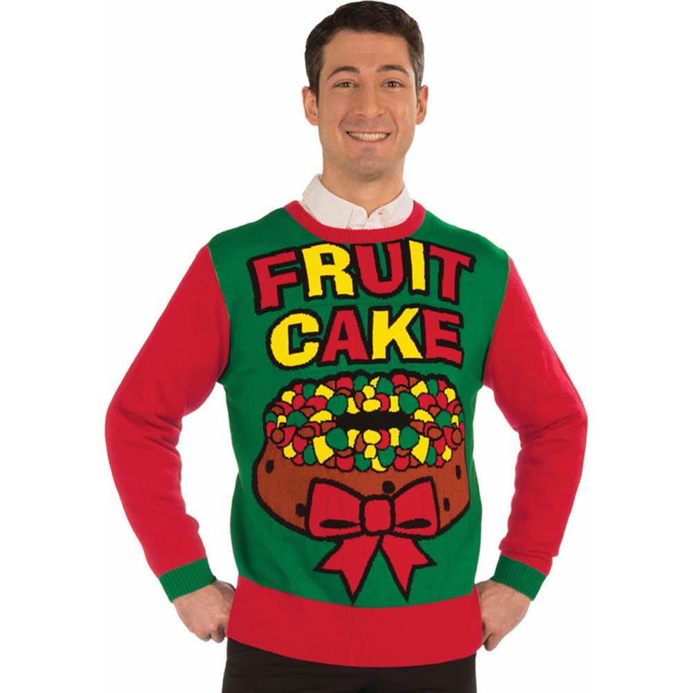 Ugly Christmas Sweater Fruit Cake Extra Large - View #1
