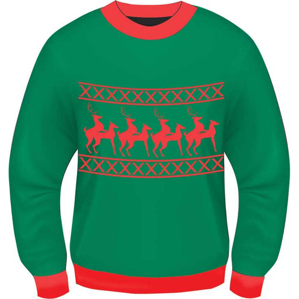 Forum Novelties Ugly Christmas Reindeer Games Holiday Sweater Extra Large - View #2
