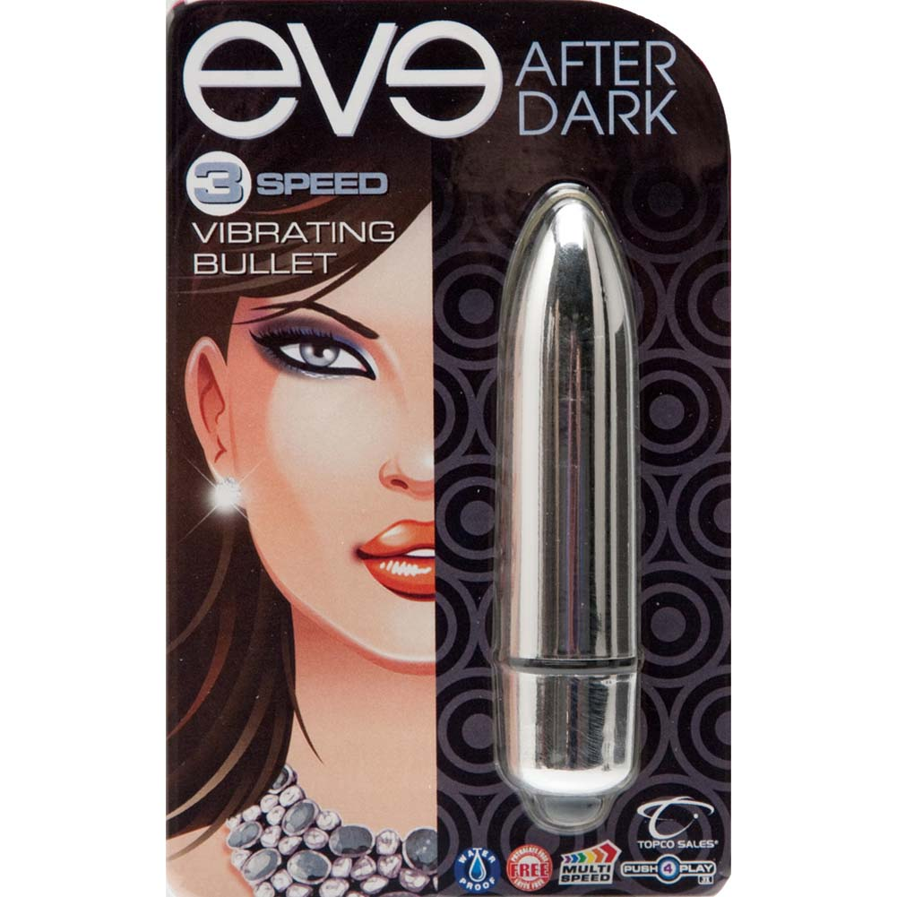 "Eve After Dark Vibrating Bullet 3.25"" Shimmer Silver - View #1"
