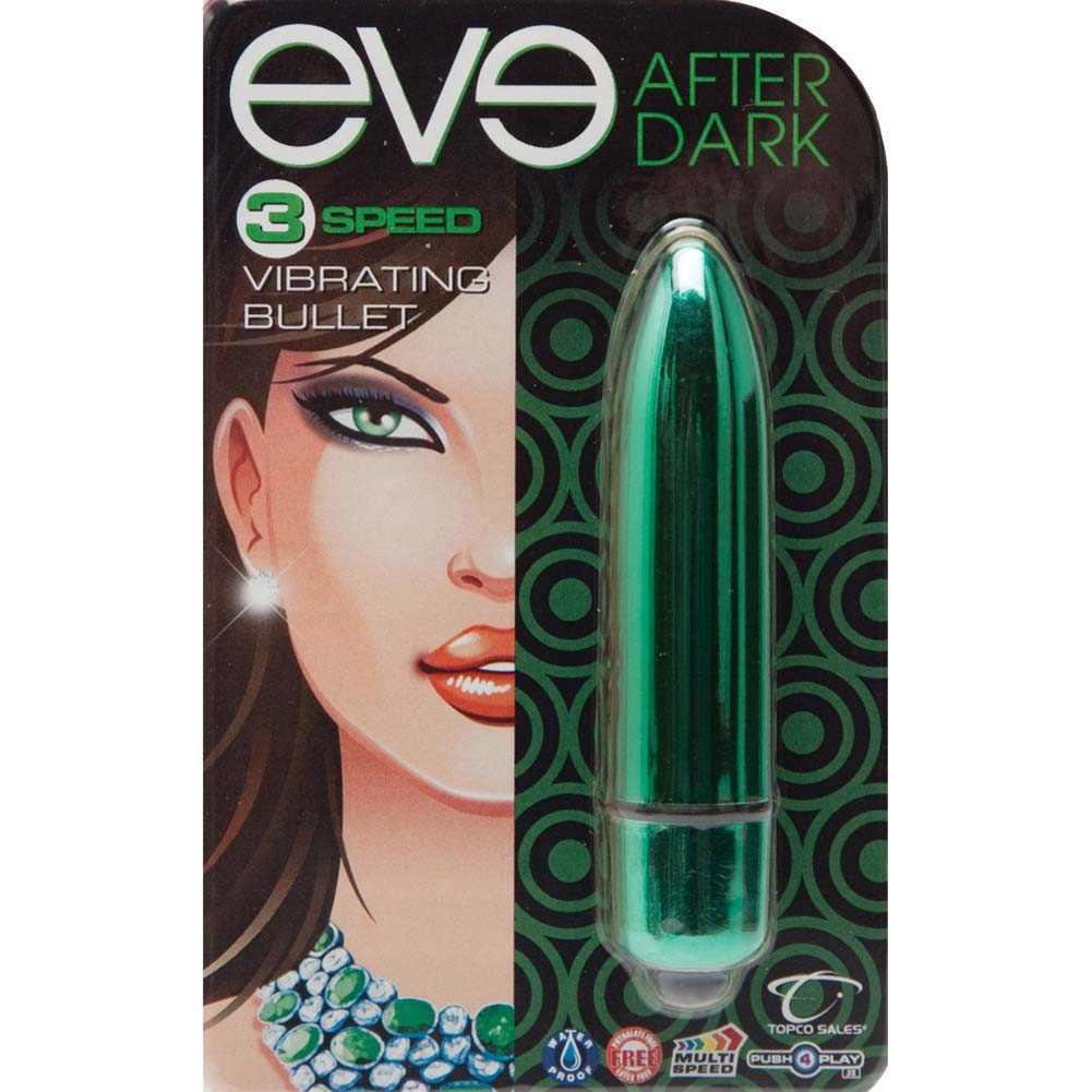 "Eve After Dark Vibrating Bullet 3.25"" Jade Green - View #1"