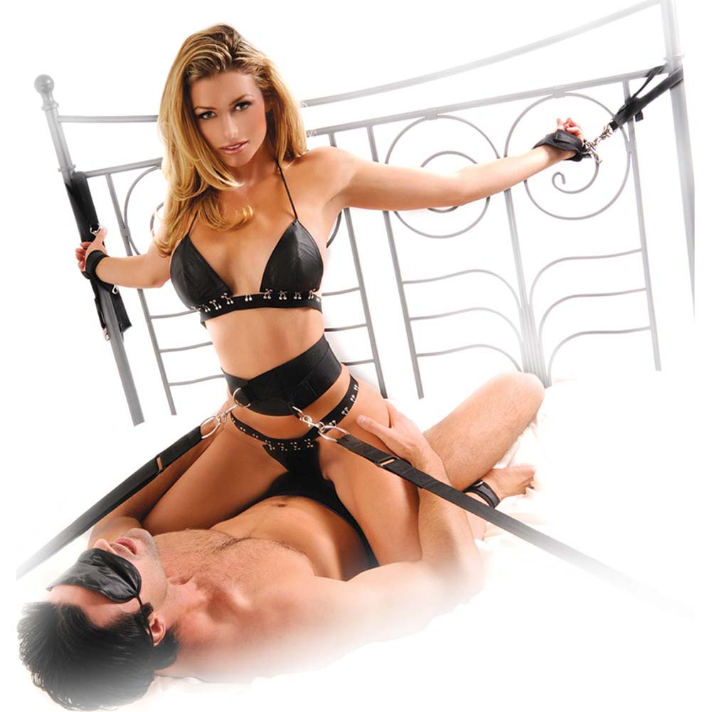 Fetish Fantasy Bondage Belt Restraint System Black - View #3