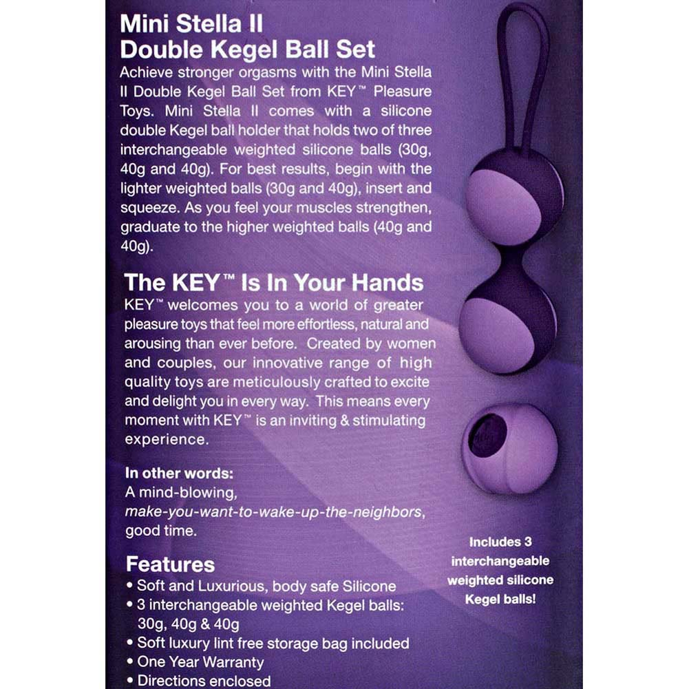 "Key by Jopen Mini Stella II Kegel Ball Set 5"" Lavender - View #3"