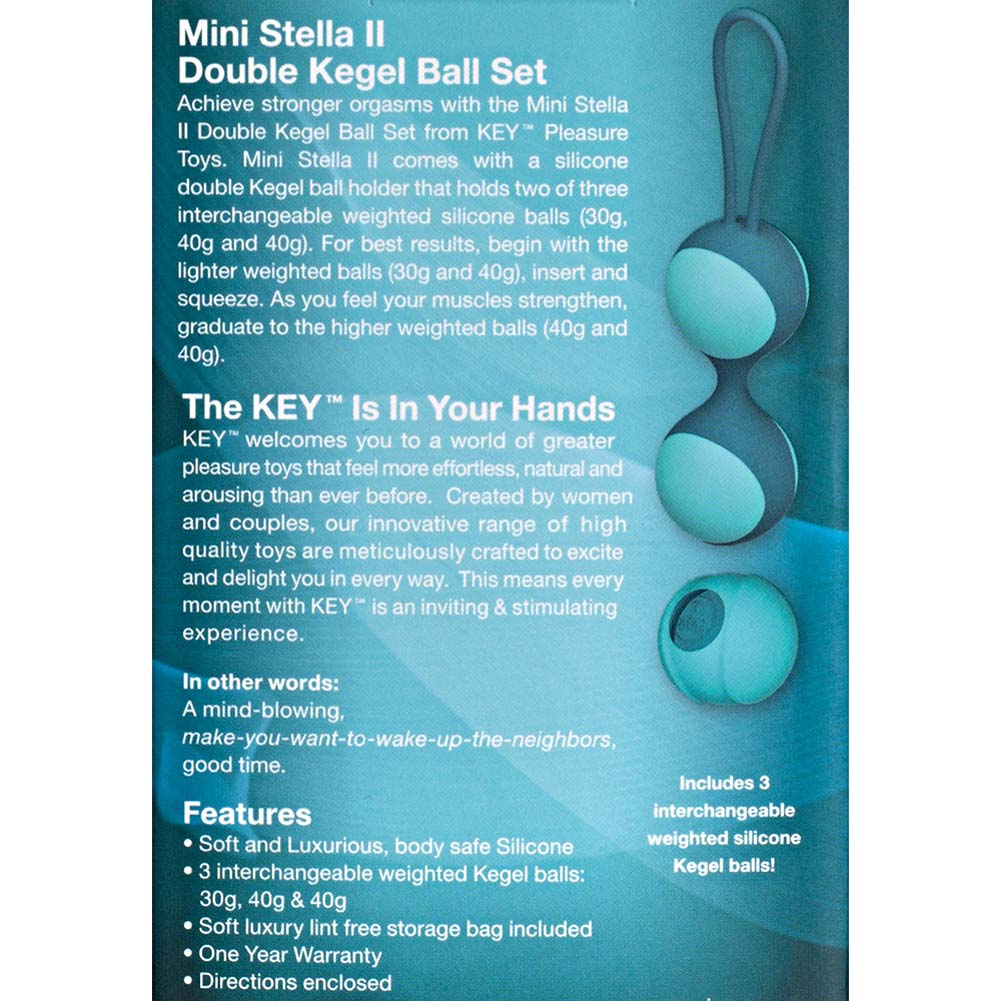 "Key by Jopen Mini Stella II Kegel Ball Set 5"" Blue - View #3"
