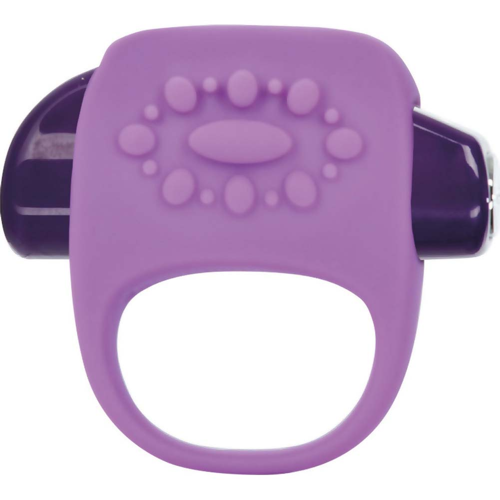 Key by Jopen Halo Vibrating Silicone Cock Ring Lavender - View #2