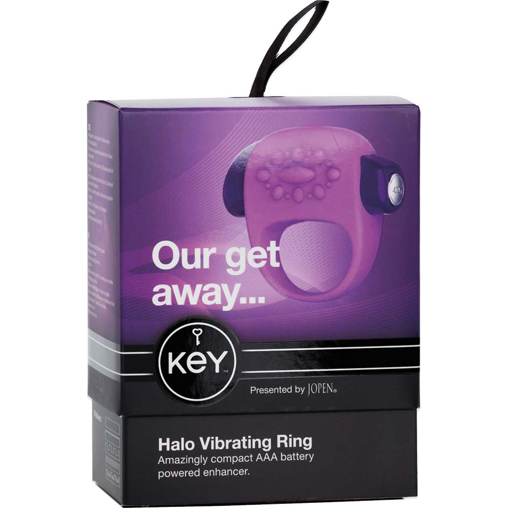 Key by Jopen Halo Vibrating Silicone Cock Ring Lavender - View #4