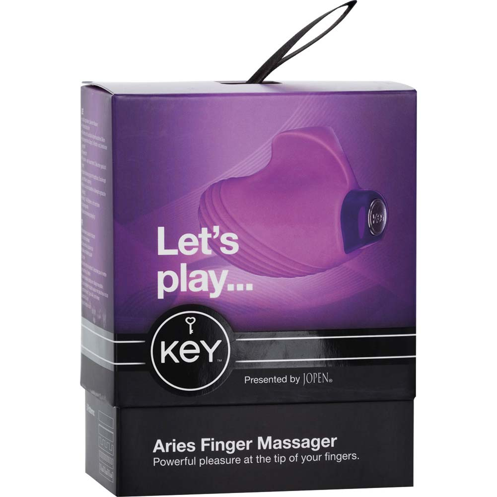 "Key by Jopen Aries Silicone Vibrating Finger Massager 2.25"" Lavender - View #4"