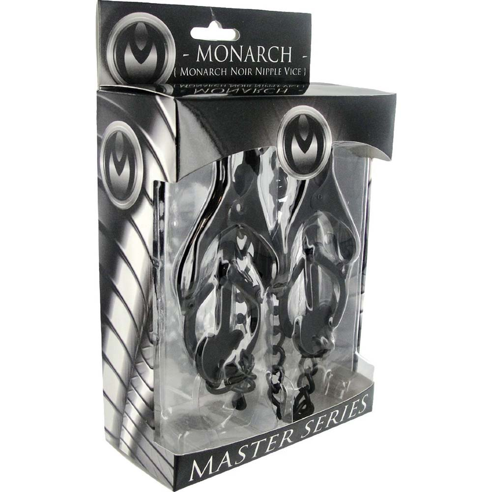 Master Series Monarch Noir Nipple Vice Black - View #4
