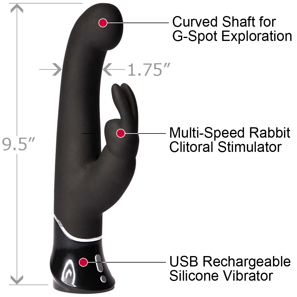 Fifty Shades of Grey Greedy Girl G-Spot Rechargeable Rabbit Vibrator Black - View #1