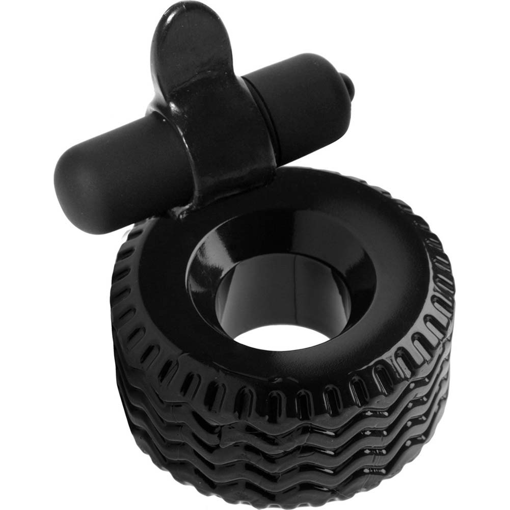 Master Series Good Wear Tire Vibrating Cock Ring Black - View #2