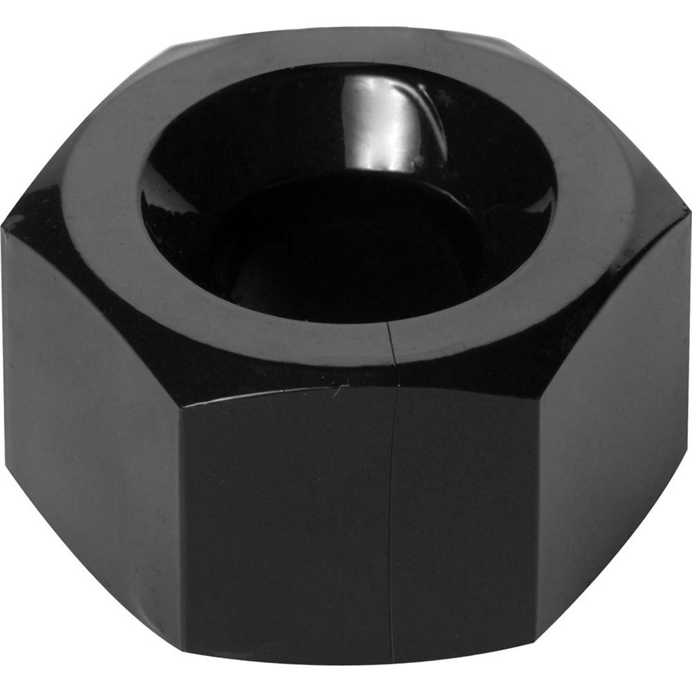 Master Series Hex Cock Ring and Ball Stretcher Black - View #3