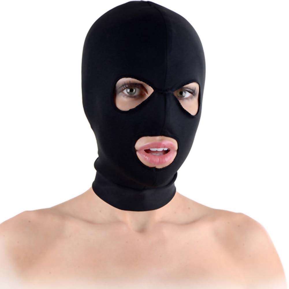 Master Series Spandex Hood with Mouth and Eye Opening Black - View #2