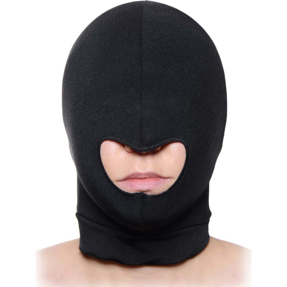 Master Series MenS Premium Spandex Hood with Mouth Opening Black - View #1