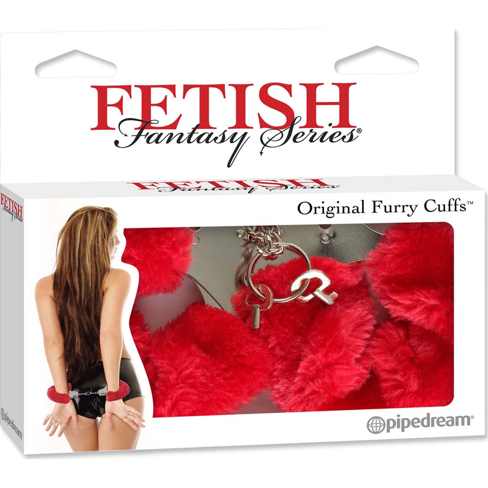 Fetish Fantasy Series Original Furry Cuffs Red - View #4