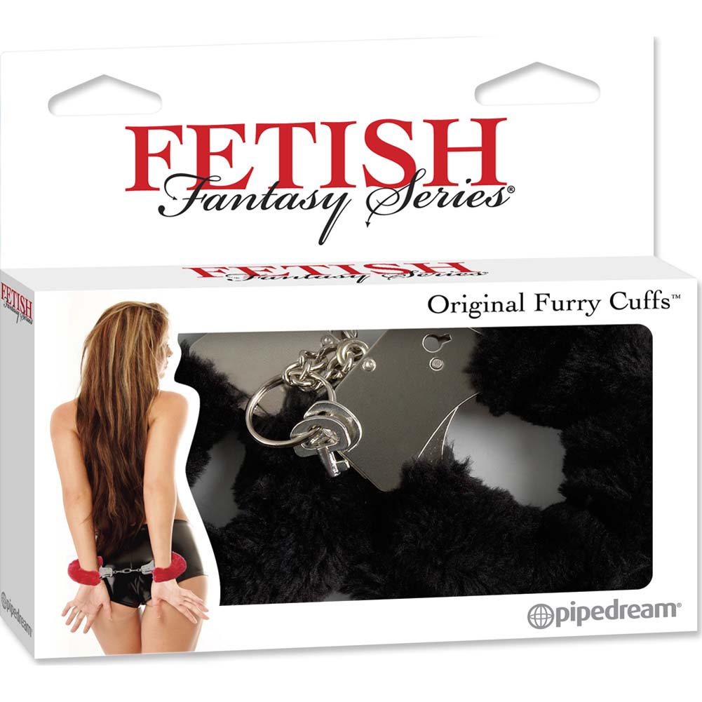 Fetish Fantasy Series Original Furry Cuffs Black - View #4