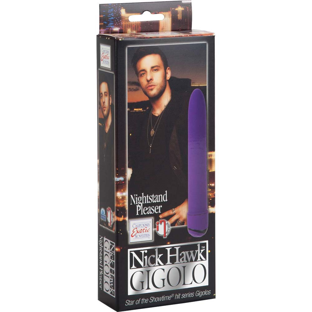 "Nick Hawk Gigolo Nightstand Pleaser - Vibrator 6"" Purple - View #1"
