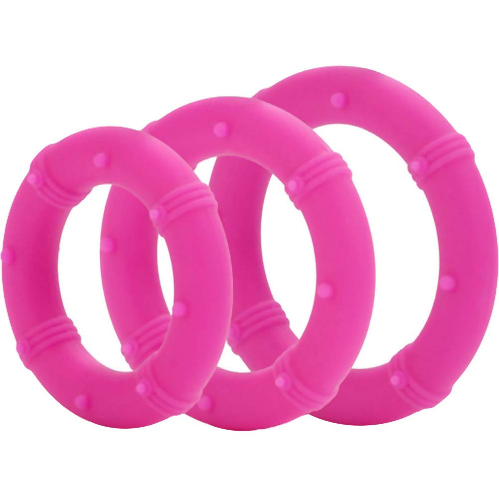 Posh Silicone Love Rings Set Pink - View #2