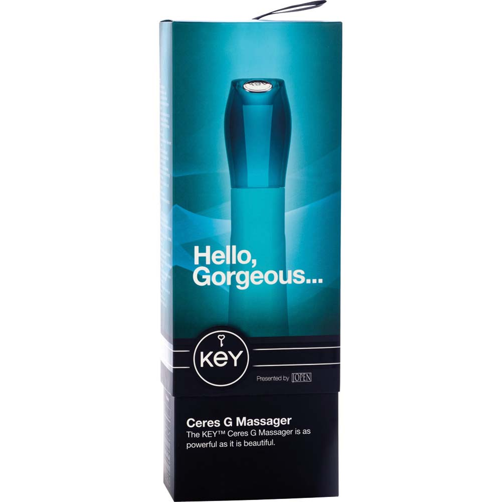 """Key by Jopen Ceres Silicone G-Spot Vibrator 7.5"""" Blue - View #4"""
