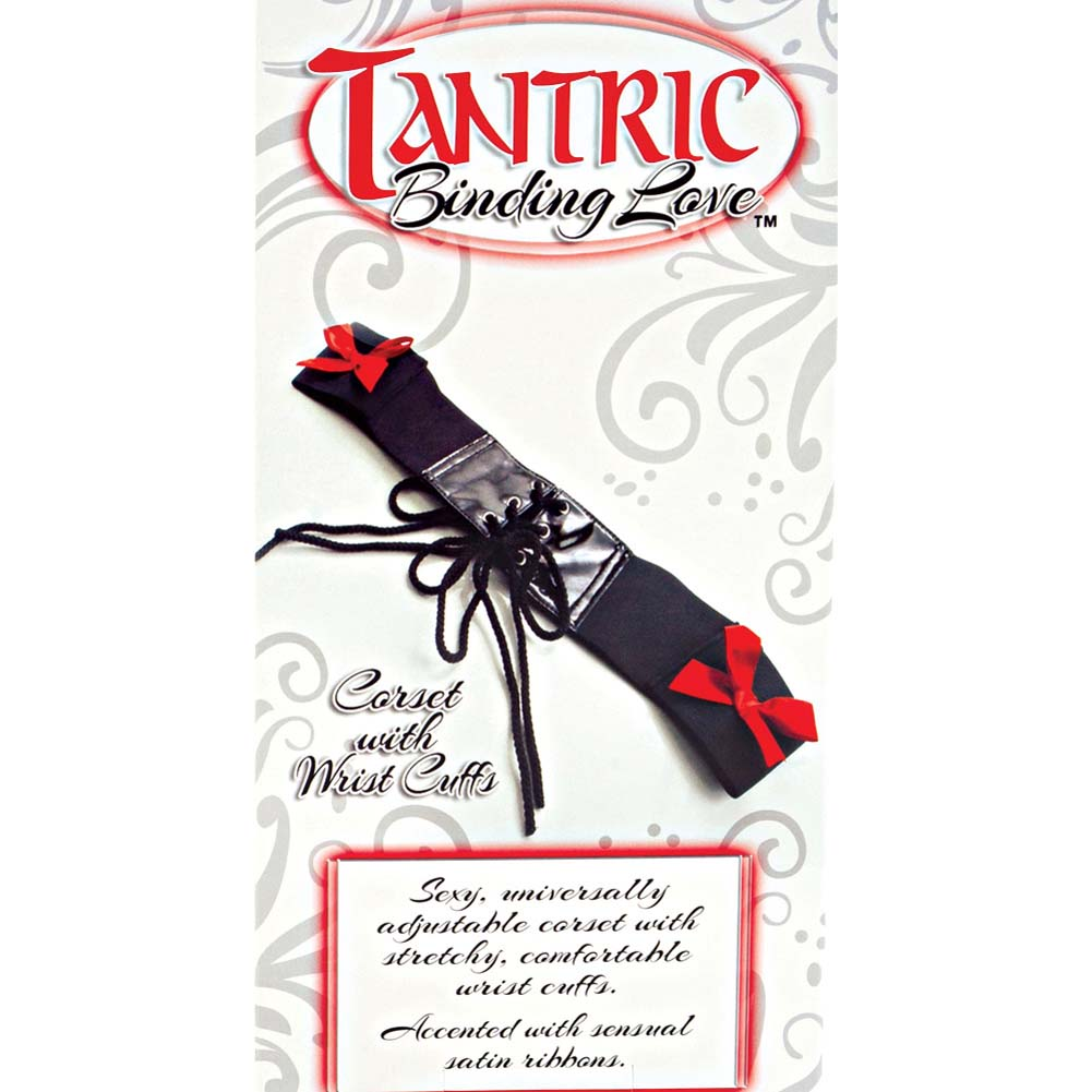 Tantric Binding Love Corset with Wrist Cuffs Black - View #4