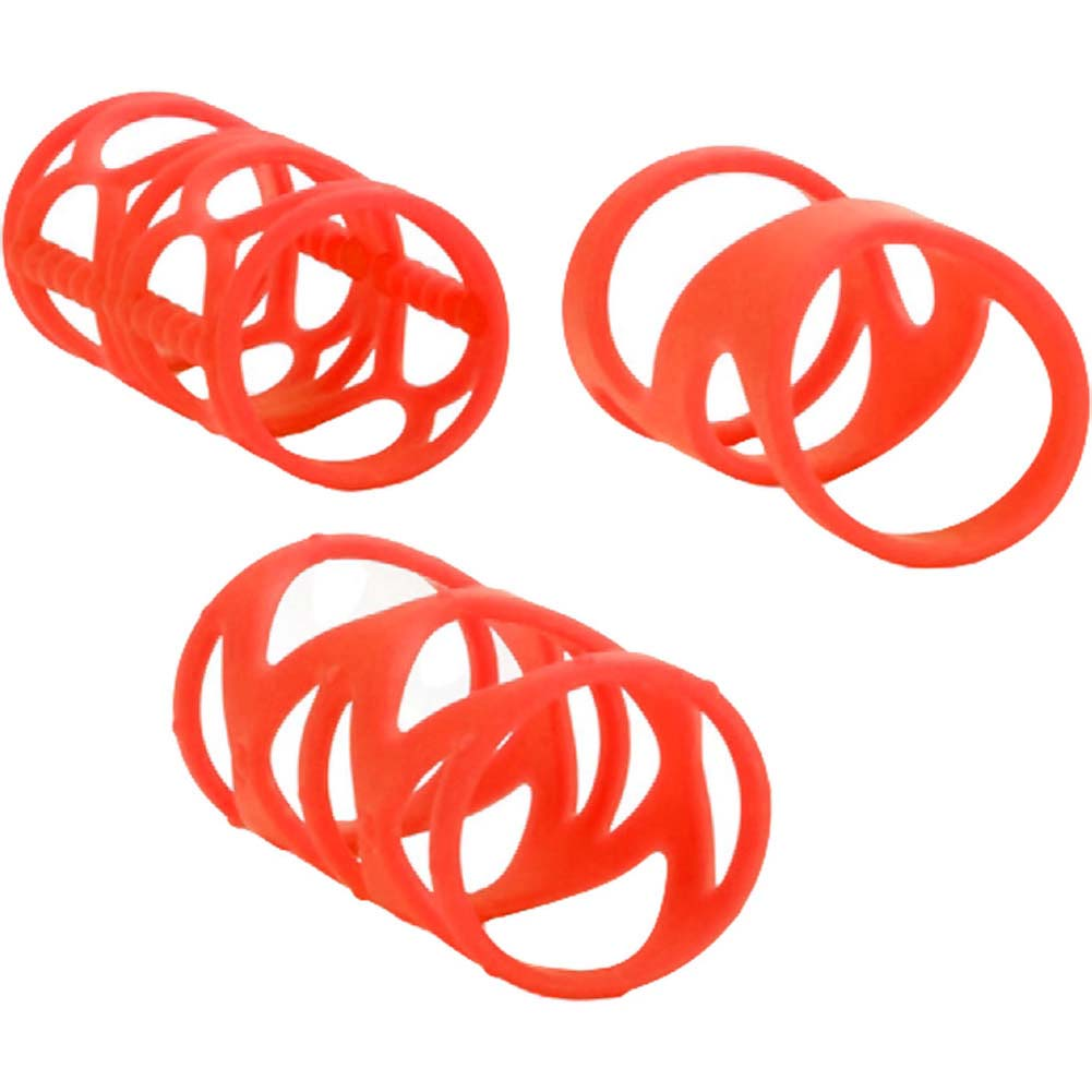 "Posh Silicone LoverS Cage 3"" Orange - View #3"