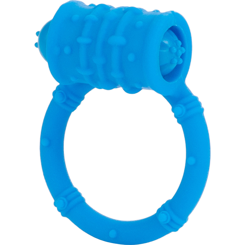 Posh Silicone Vibro Ring Blue - View #2