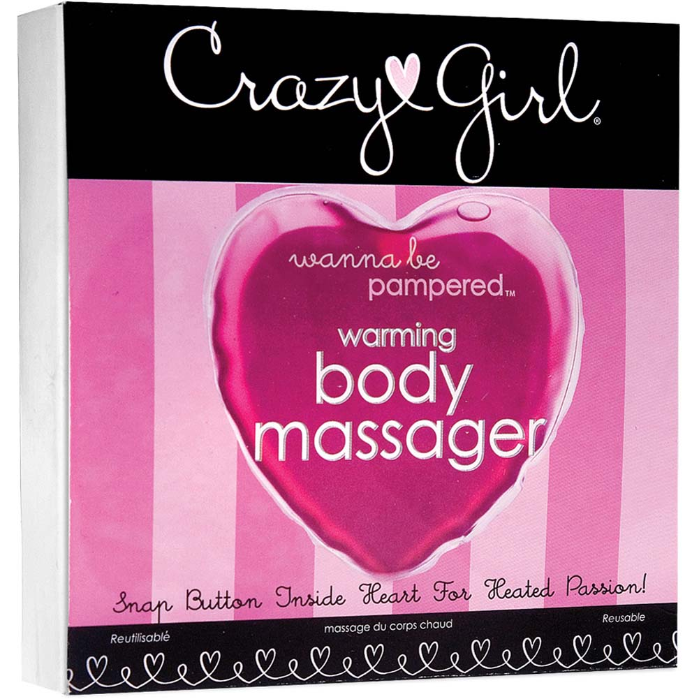 Crazy Girl Warming Body Massager Pink Heart - View #1