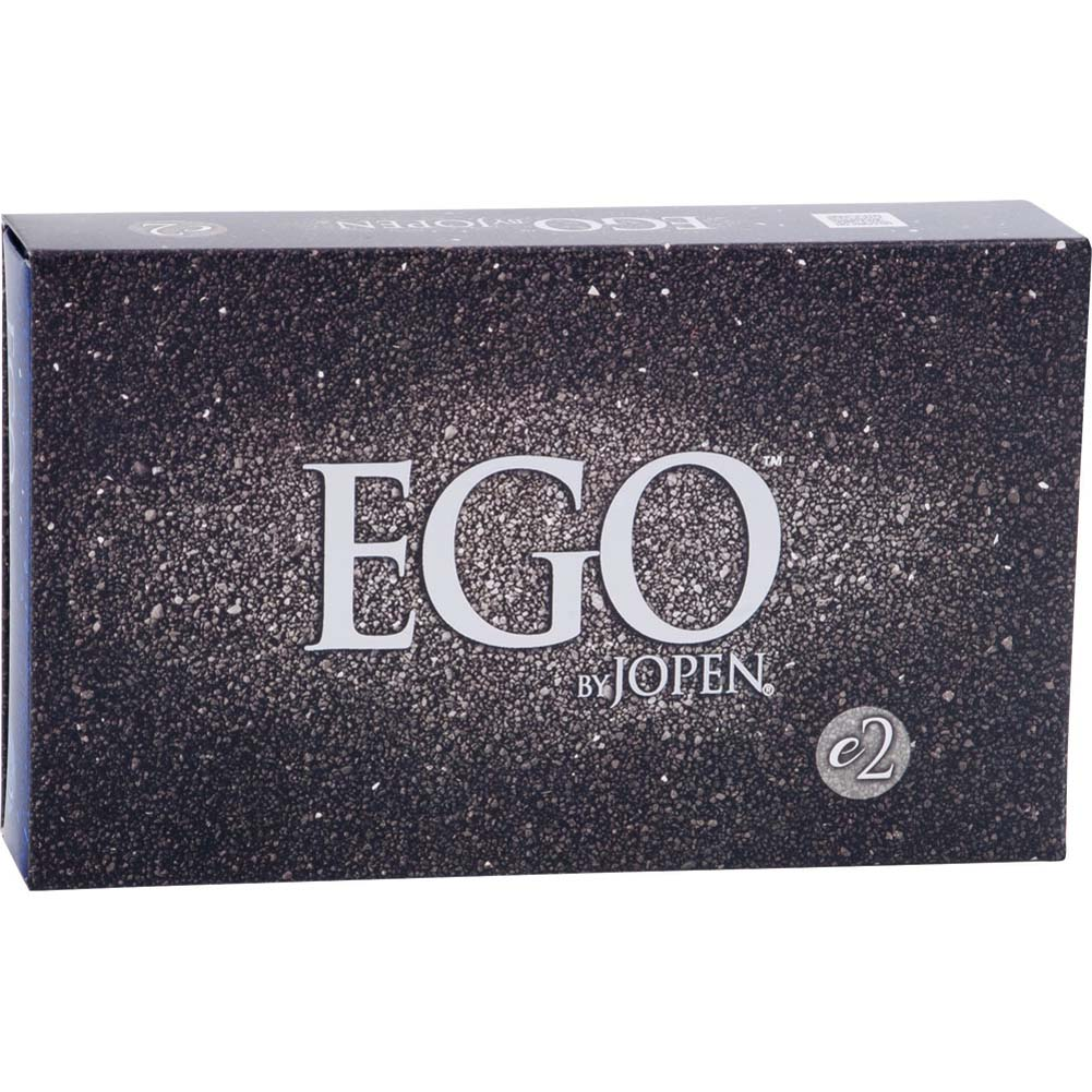 Ego by Jopen E2 Rechargeable Vibrating Silicone Cock Ring Blue - View #3