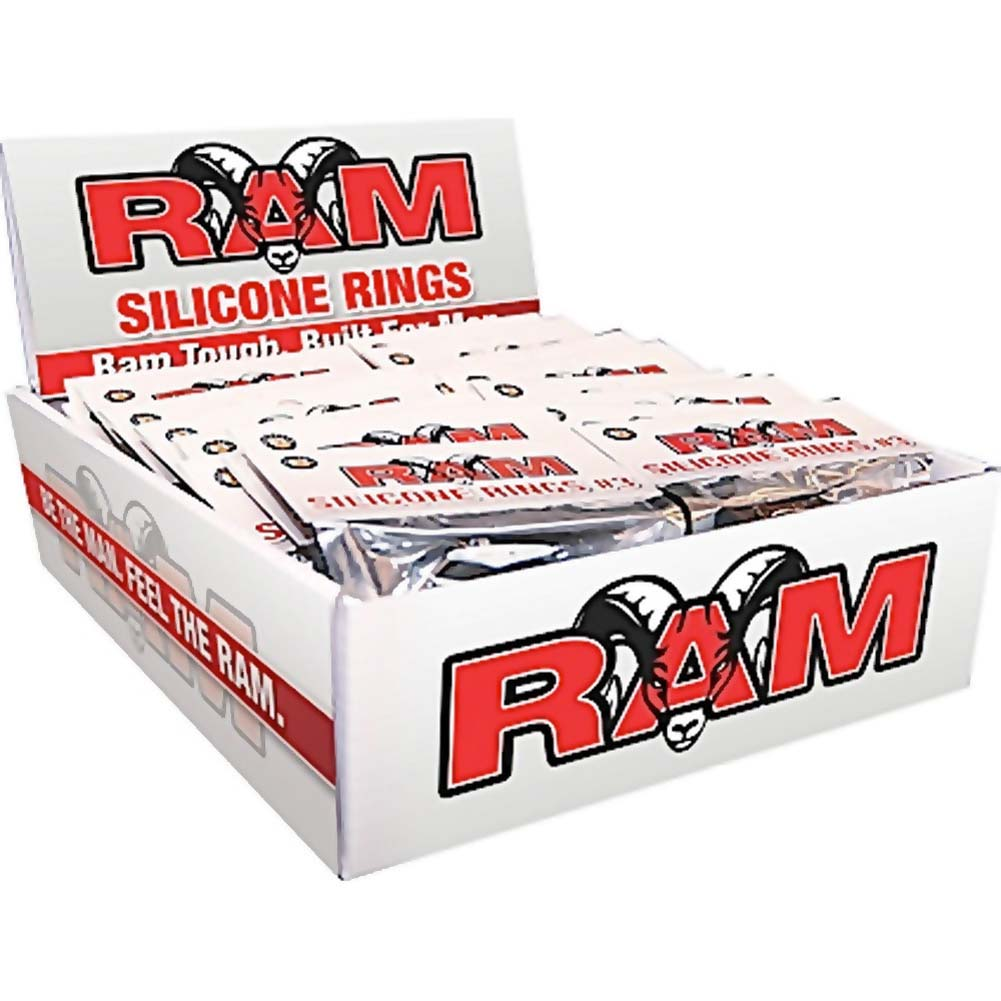 Ram Silicone Rings Display of 24 Packs Assorted Colors - View #2
