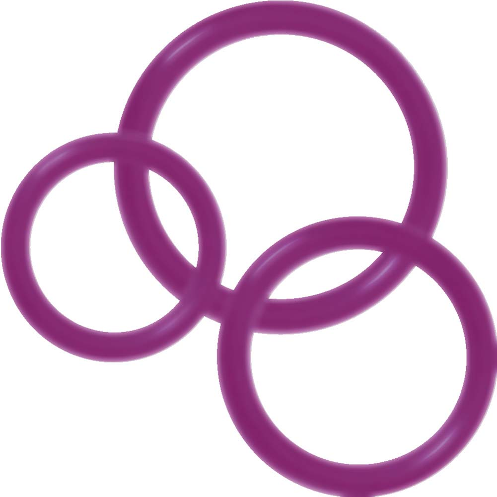 Ram Silicone Rings Number 2 Pack of 3 Purple - View #2