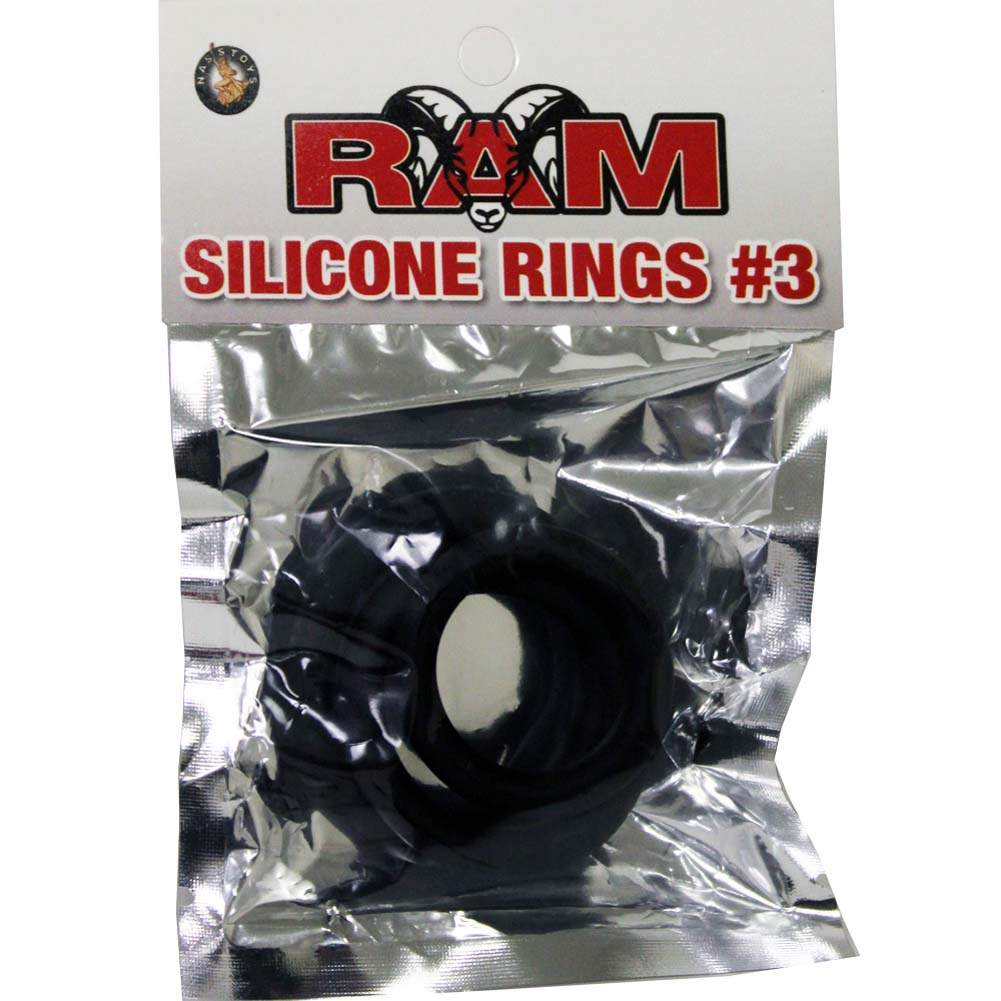 Ram Silicone Rings Number 3 Pack of 3 Black - View #1