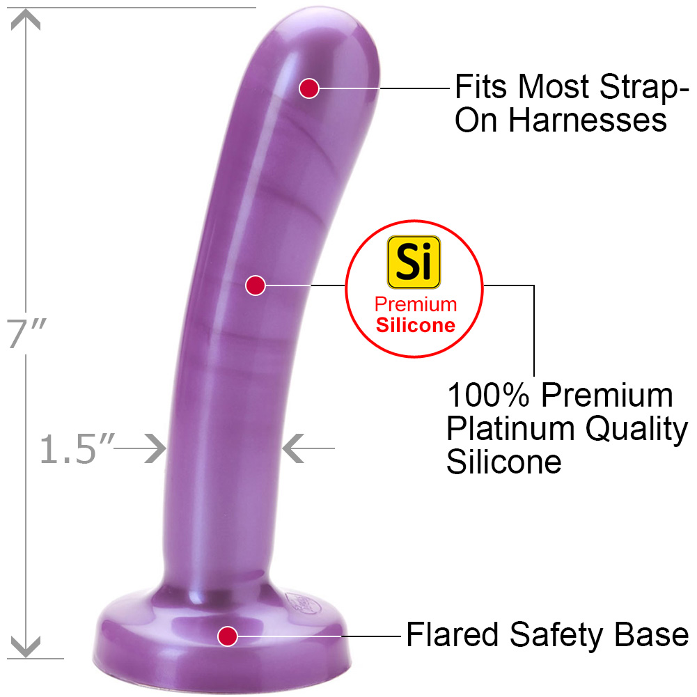 "Tantus Silk Silicone Dildo Large 7"" Purple Haze - View #1"