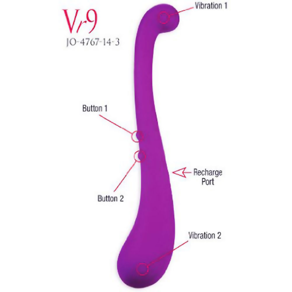 "Vanity by Jopen Vr9 Rechargeable Silicone Personal Vibrator 10"" Purple - View #1"