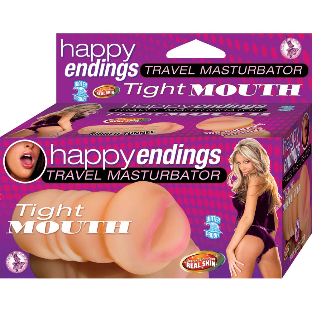 Happy Endings Travel Masturbator Tight Mouth Natural Flesh - View #1
