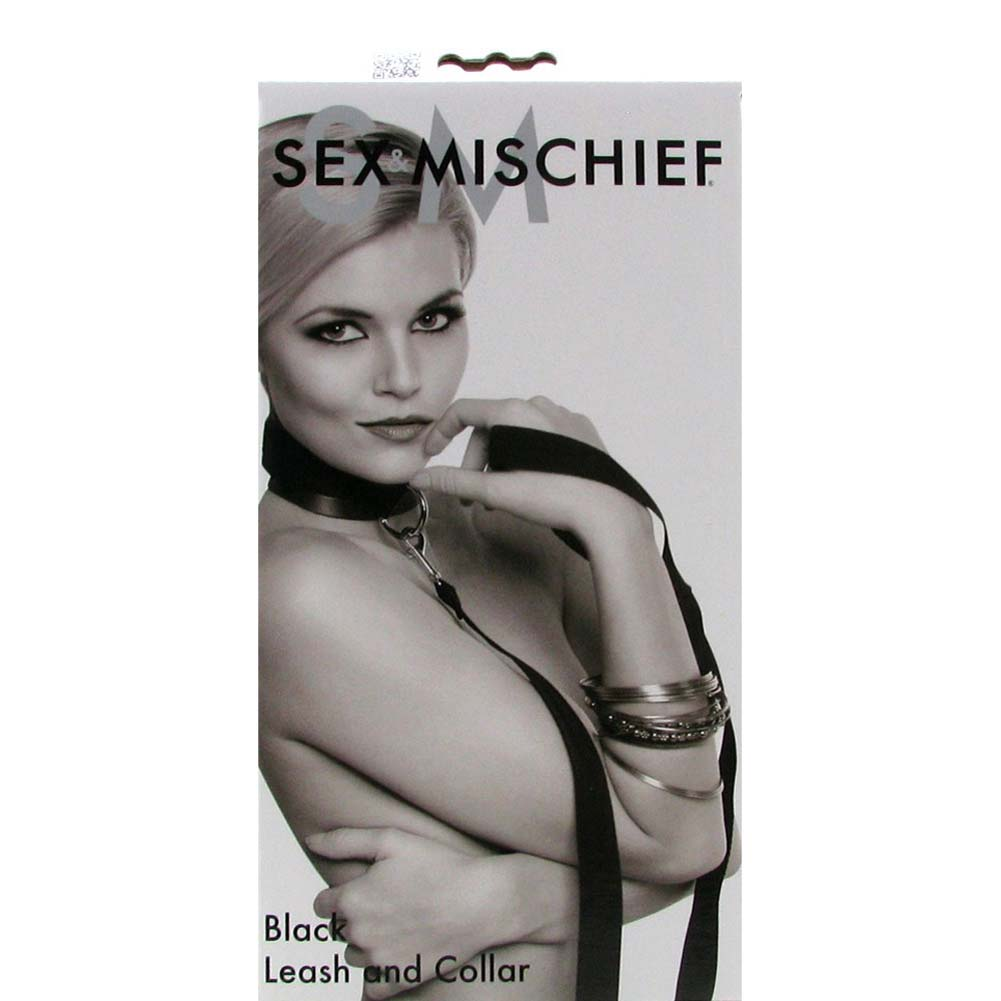 Sex and Mischief SM Leash and Collar Black - View #4
