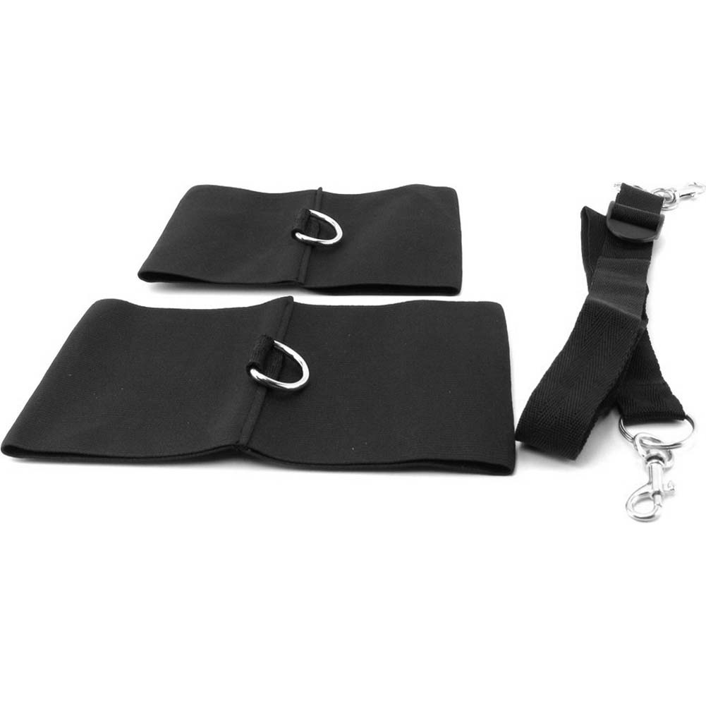 Sex and Mischief SM Elastabind Ankle Wrist and Tether Restraint Kit Black - View #3