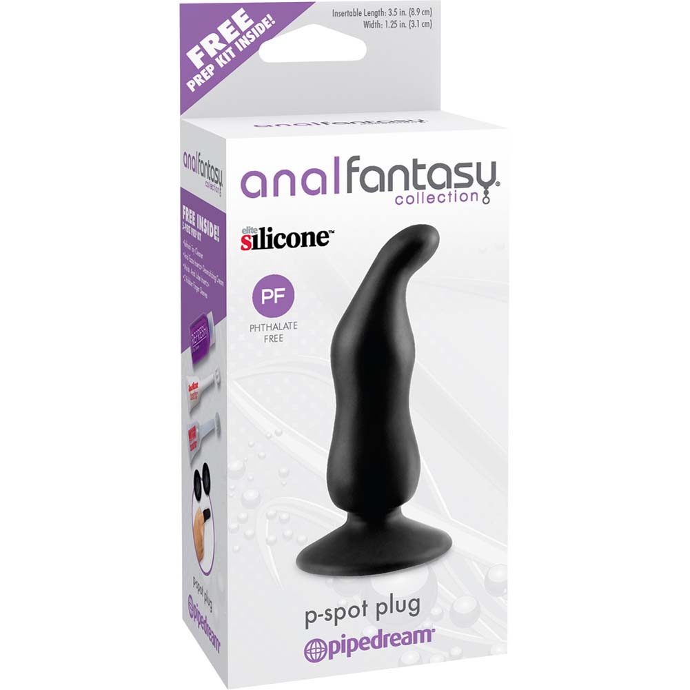 "Anal Fantasy Collection P-Spot Plug 4.25"" Black - View #1"