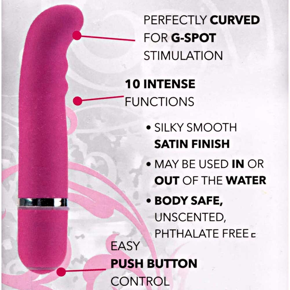 "California Exotics 10 Function Charisma Bliss G-Spot Vibrator 4.5"" Pink - View #1"