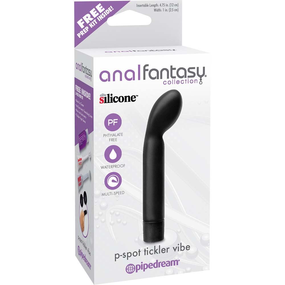 "Anal Fantasy Collection P-Spot Tickler Vibrator 5.75"" Black - View #1"