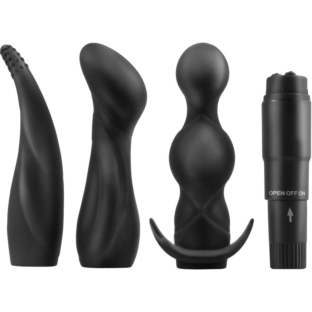 "Anal Fantasy Collection Anal Adventure Kit with Vibrator 4"" Black - View #2"
