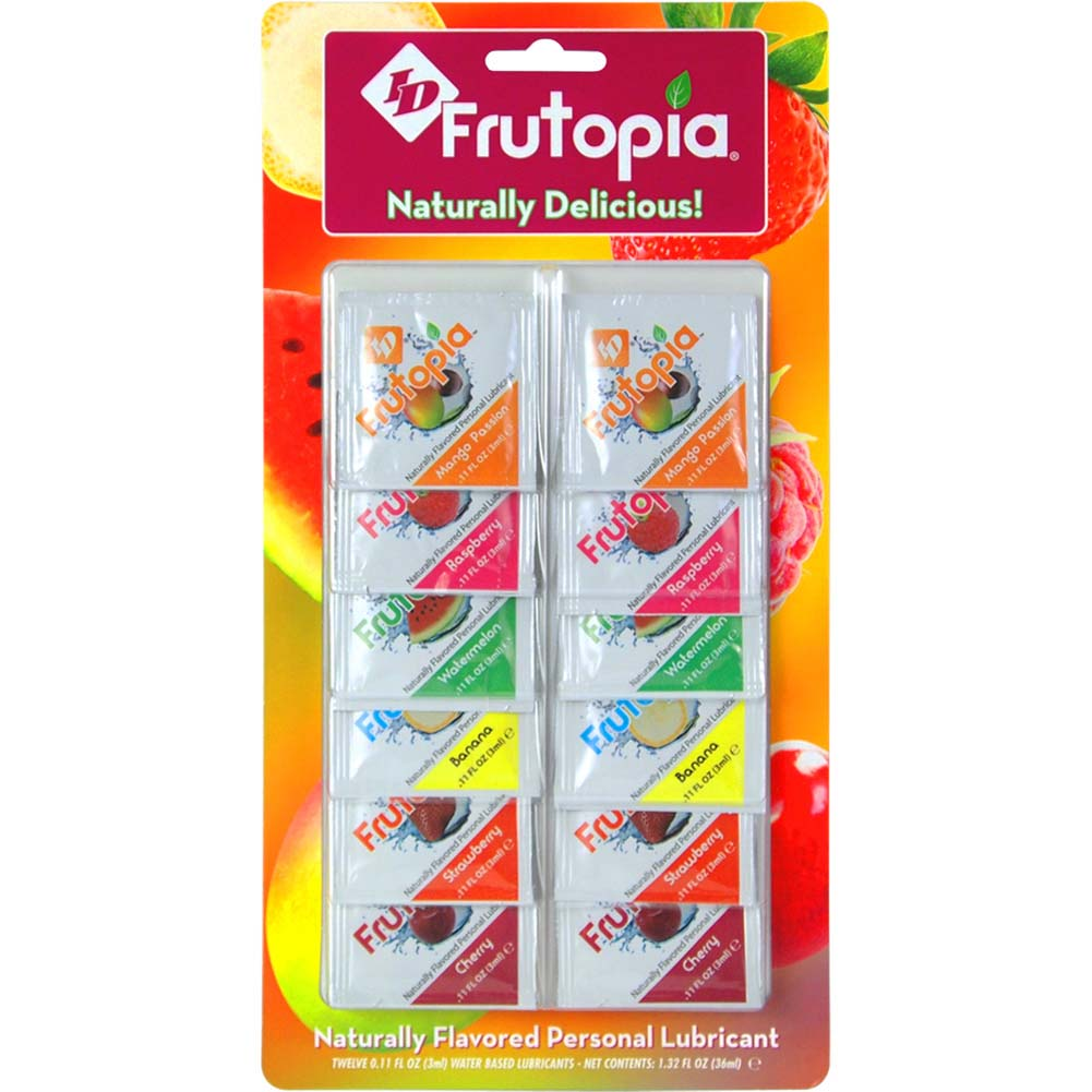 ID Frutopia Naturally Flavored Lubricant 3 Ml Foil 12 Pack Assorted Flavors - View #2