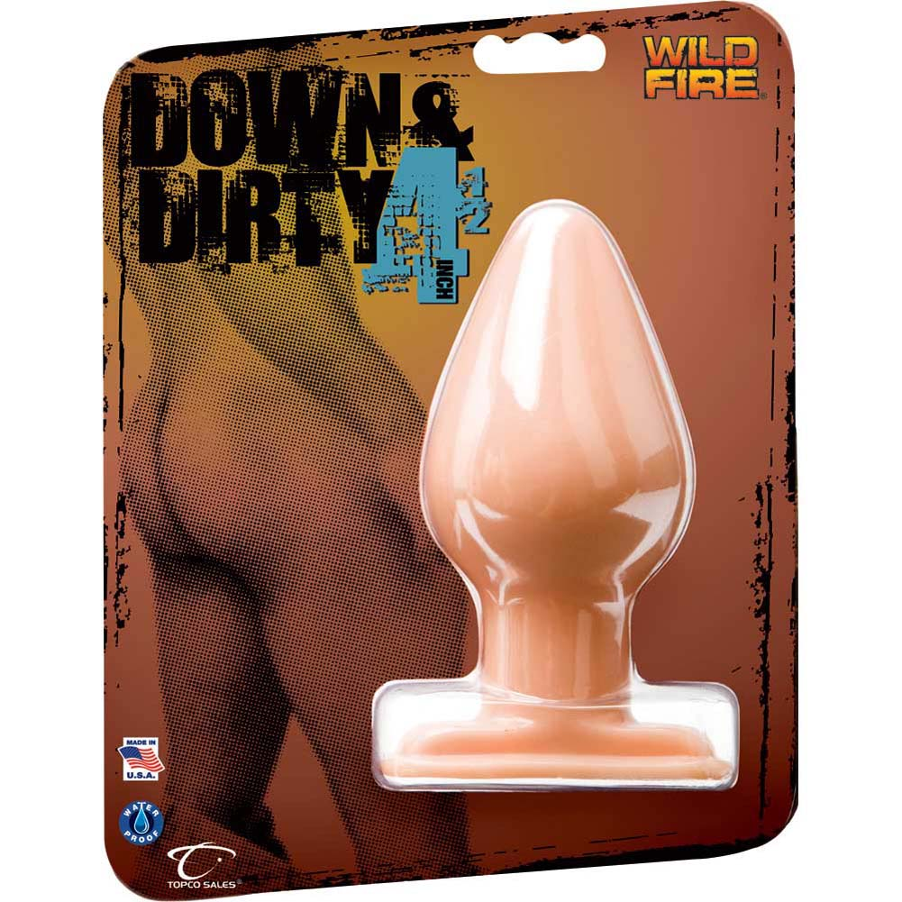 "Wildfire Down and Dirty Butt Plug 4.5"" Natural Flesh - View #1"