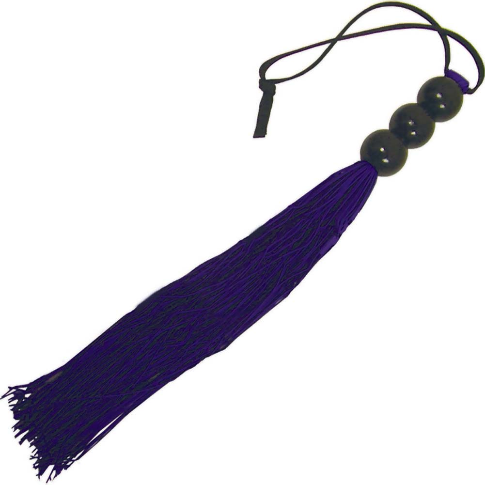 "Sex and Mischief SM Small Rubber Whip 10"" Purple - View #2"