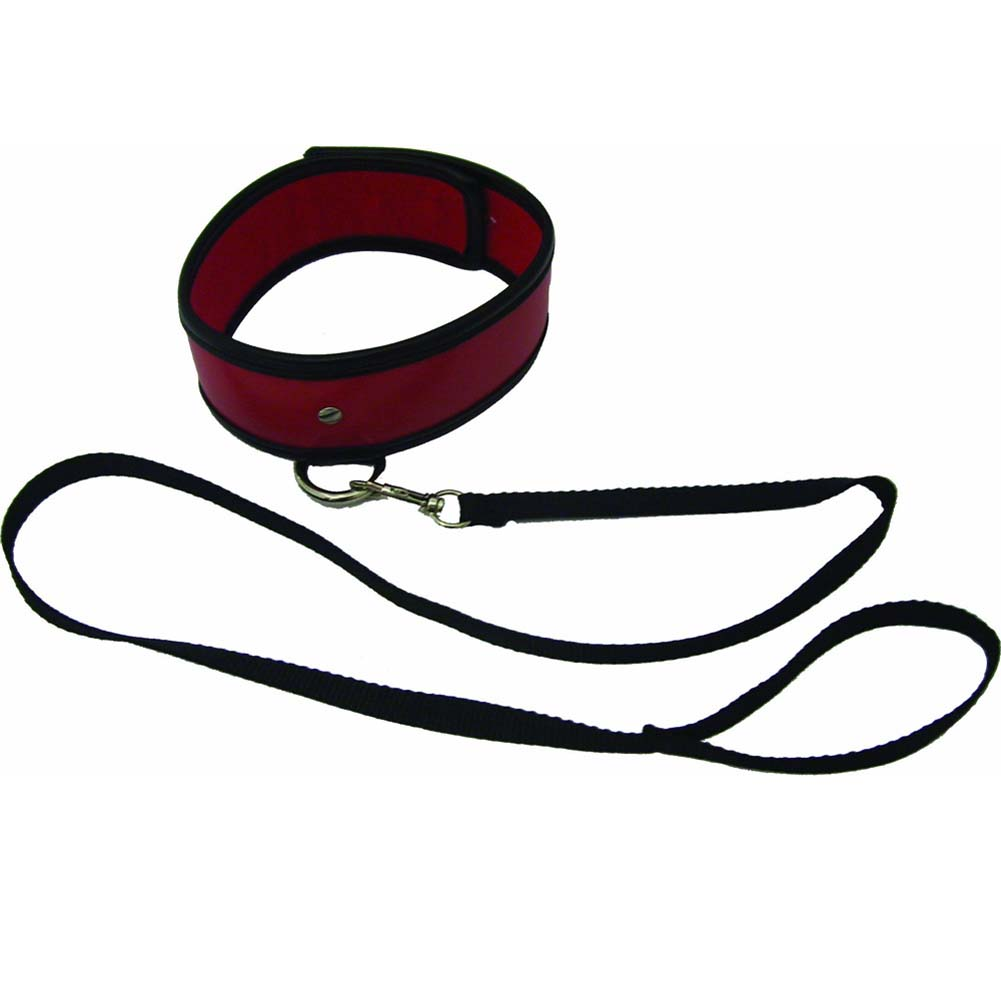 Sex and Mischief SM Red Leash and Collar - View #2