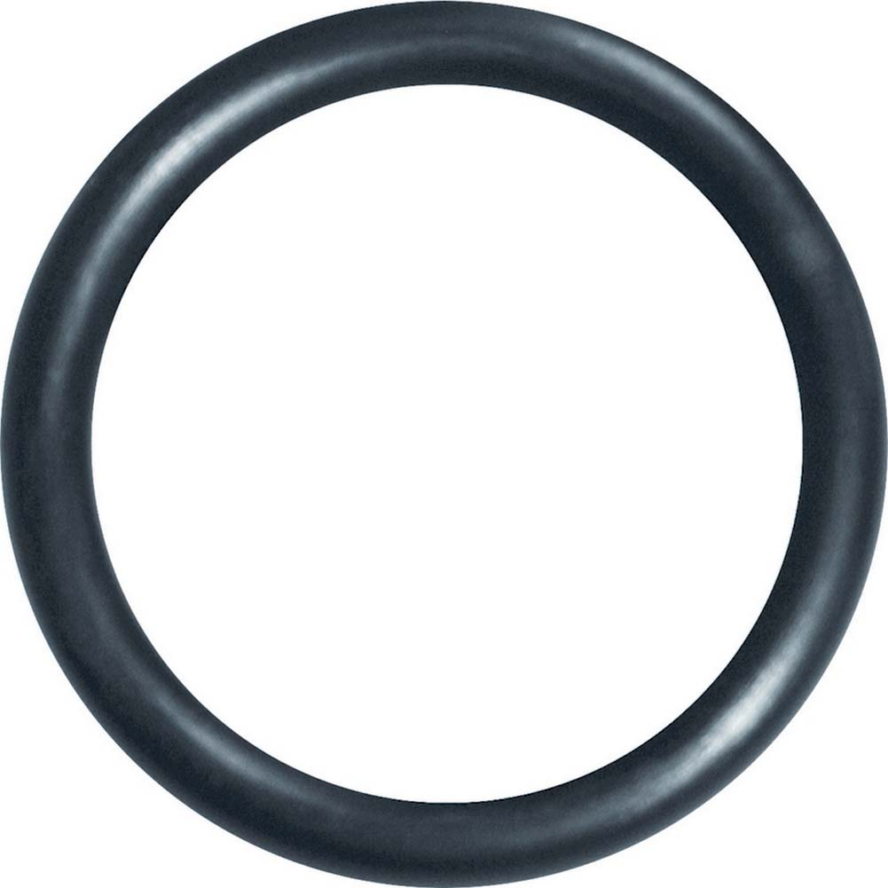 "Sex and Mischief SM Silicone Ring 2"" Black - View #2"
