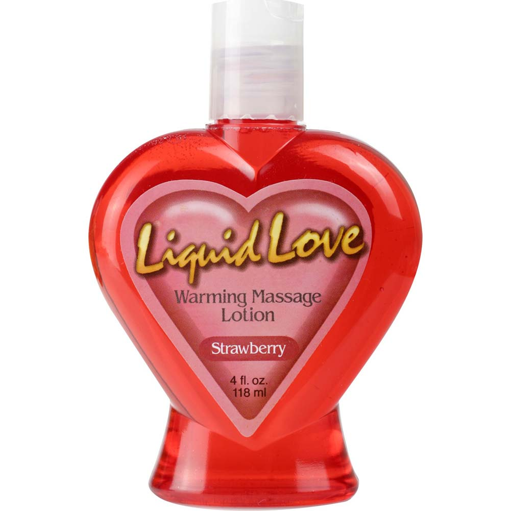 Liquid Love Warming Massage Lotion by Pipedream 4 Fl.Oz 120 mL Strawberry - View #1