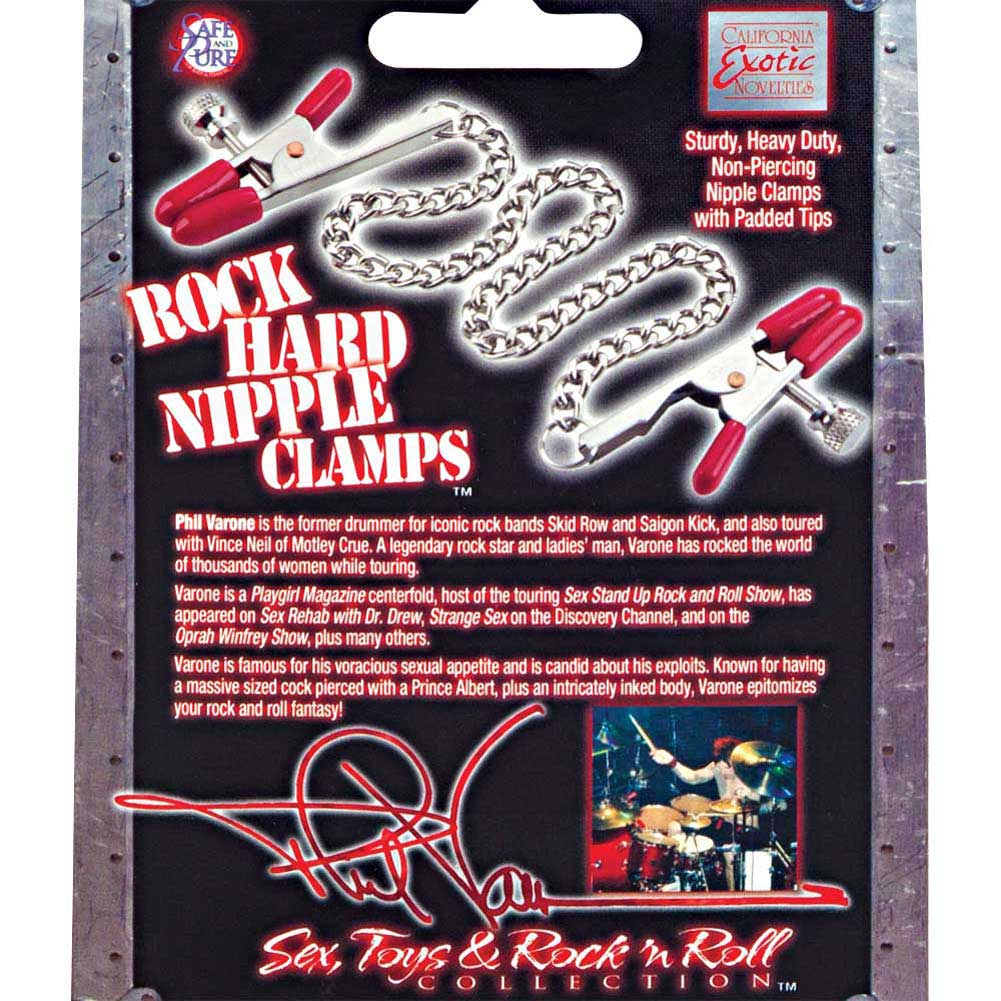 Phil Varone Rock Hard Nipple Clamps Red - View #1