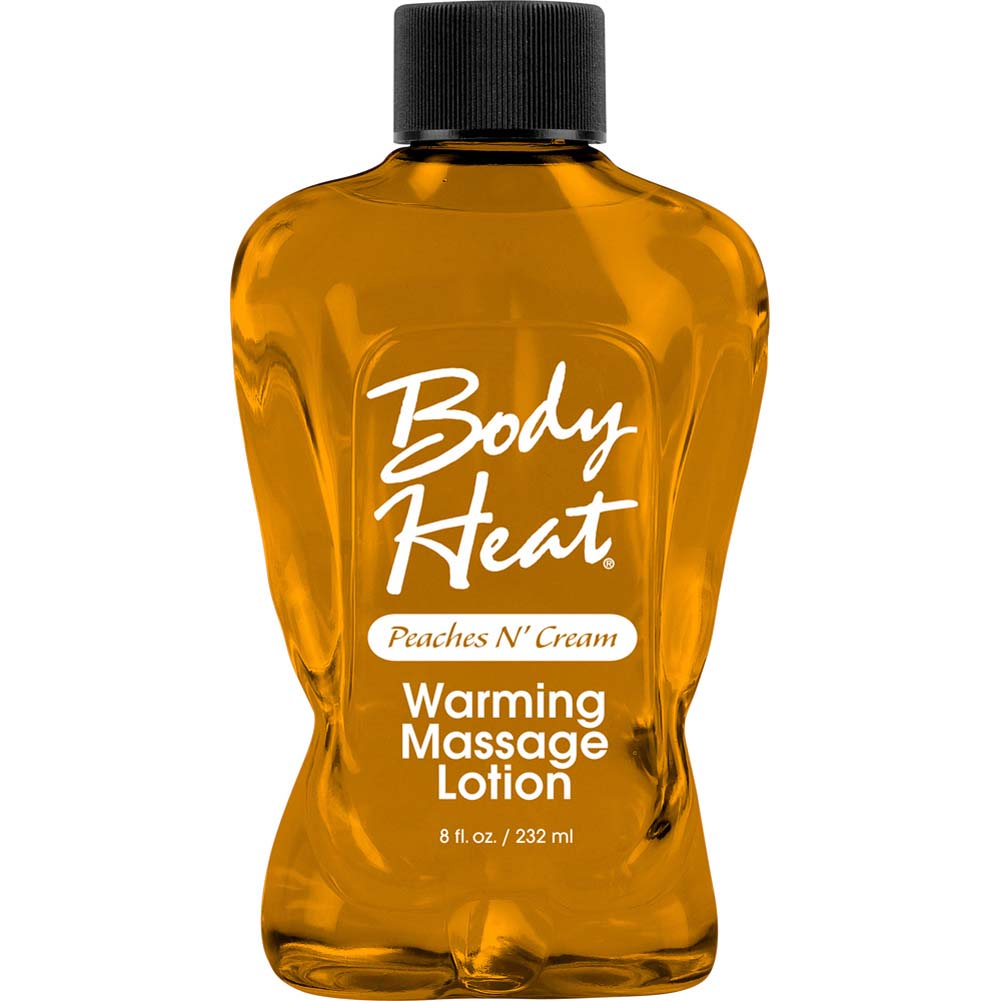 Body Heat Warming Massage Lotion 8 Fl.Oz 236 mL Peaches N Cream - View #1