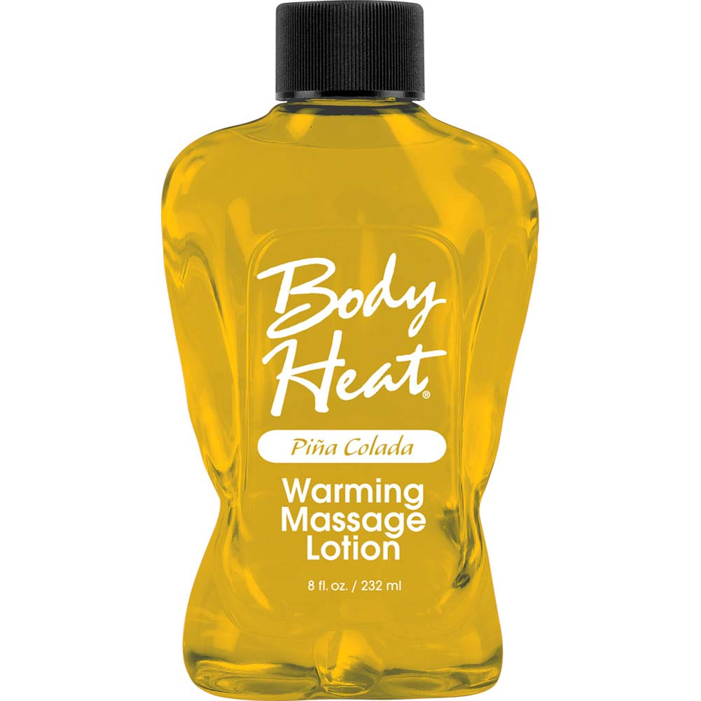 Body Heat Warming Massage Lotion 8 Fl.Oz 236 mL Pina Colada - View #1