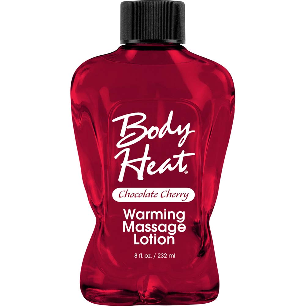 Body Heat Warming Massage Lotion 8 Fl.Oz 236 mL Chocolate Cherry - View #1